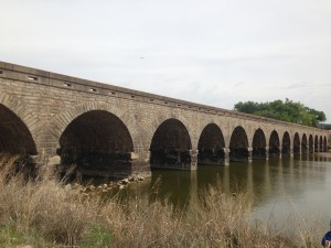 WPA bridge over the Brazos River, Graford, Texas, April 12, 2014