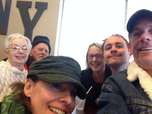 Left to right: Grandma, Grandpa, Chris, Peggy, Sam, Matt